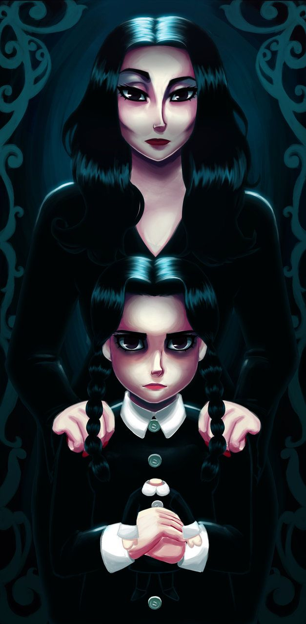 Morticia Wednesday Addams Addams Family Family Art Art