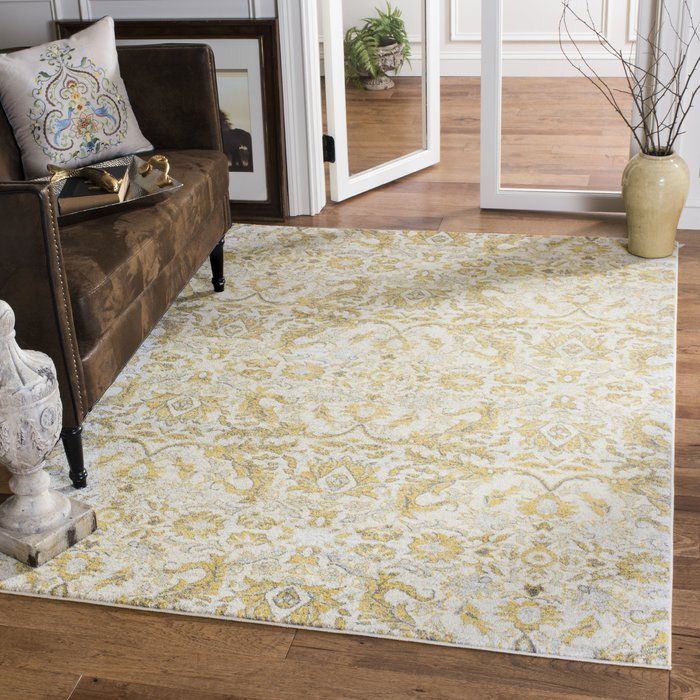 Sagebrush Ivory/Gold Area Rug Area rugs, Rugs, Classy rugs
