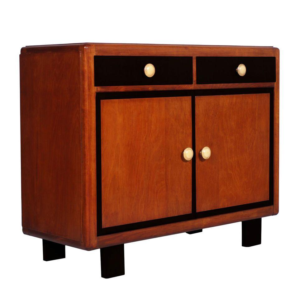 Credenza Art Deco Periodo 1930s Antique Sideboard Cabinet Deco Ma