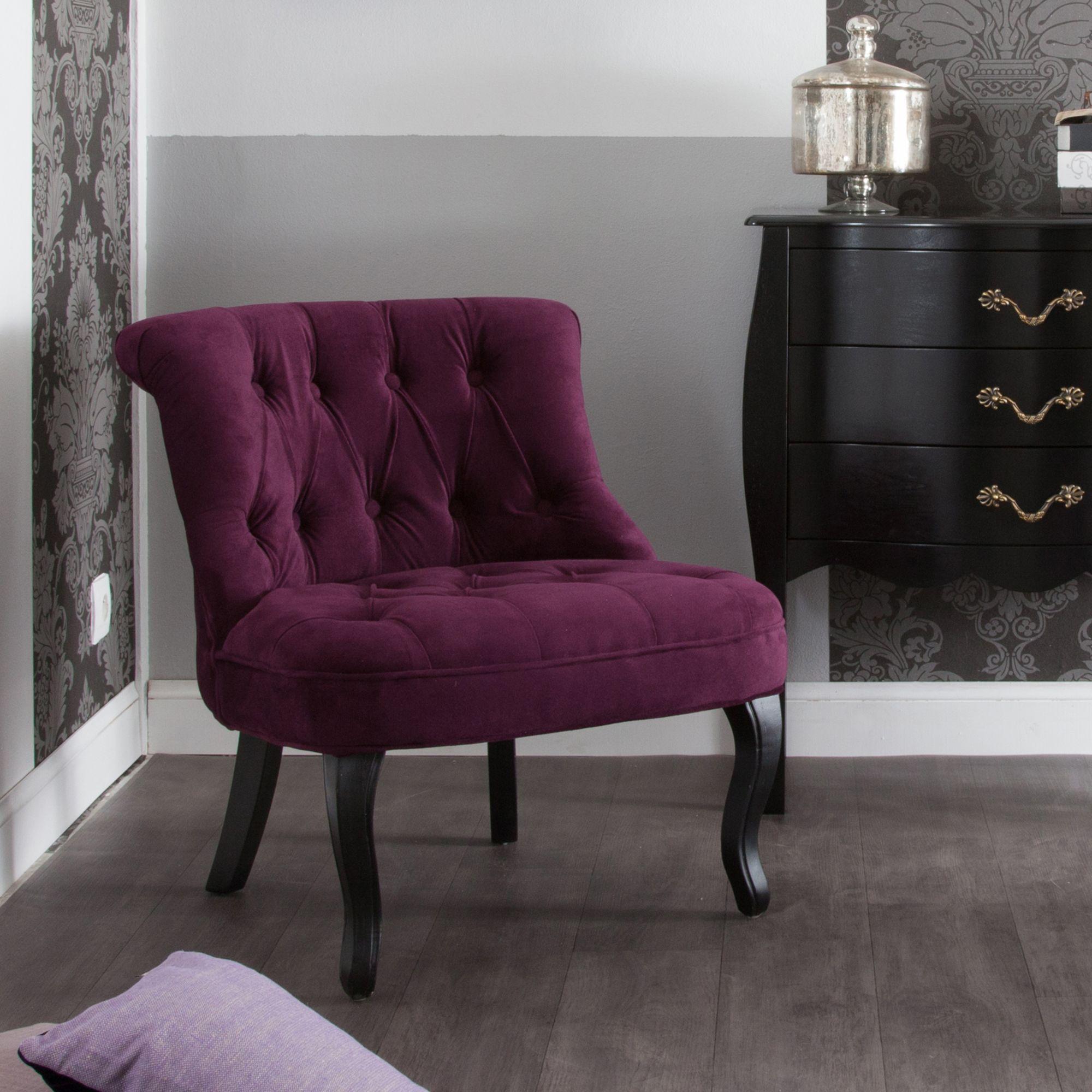 fauteuil crapaud tissu velours capitonn avec pieds bois danny chez baroque. Black Bedroom Furniture Sets. Home Design Ideas
