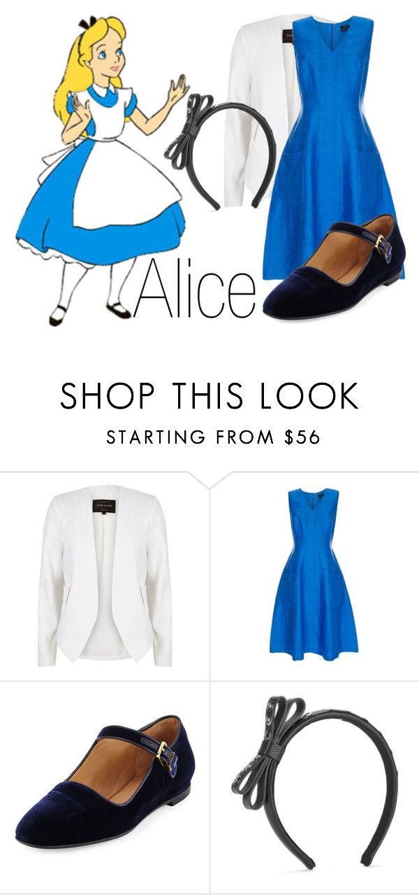 """Alice~ DisneyBound"" by basic-disney ❤ liked on Polyvore featuring River Island, Paul Smith, The Row and RED Valentino"