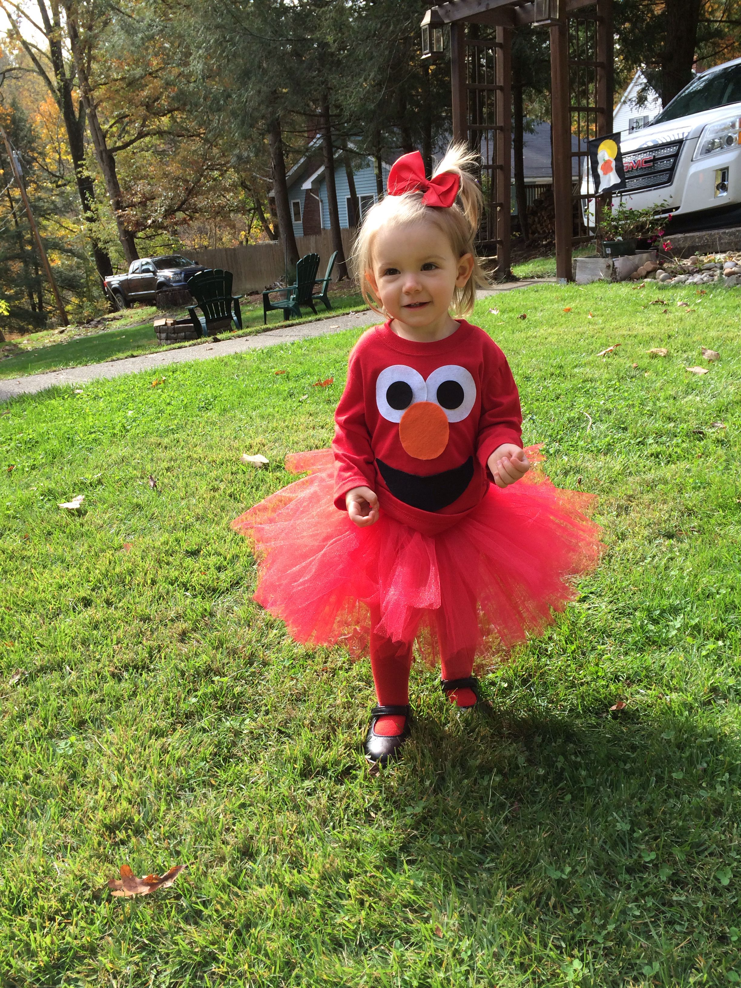 Diy Elmo Halloween Costume Hively Girls Toddler Costumes