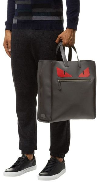 8d74144564fa Fendi Monster Eyes Tote in Gray for Men