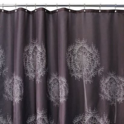 Interdesign Cocoa Dandelion Shower Curtain With Images Modern