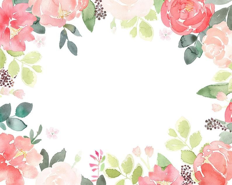 Peony Clipart Floral Frames Coral Peonies Clip Art Etsy Flower Frame Wedding Graphics Coral Peonies