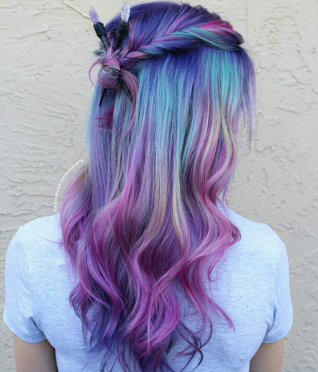 Pin By Nonie Chang On Dyed Hair With Images Kids Hair Color