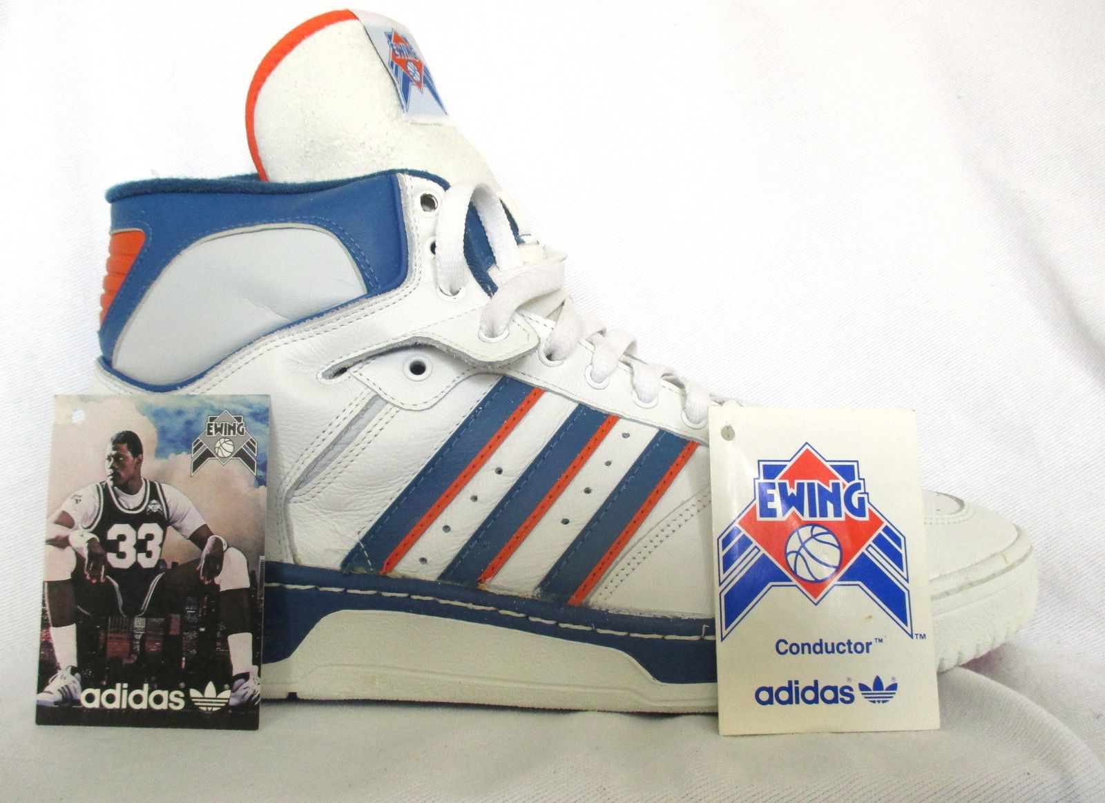 Original Vintage 1986 Patrick Ewing Adidas Conductor Shoes