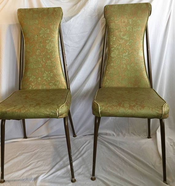 Kitchen Dining Chairs Delta Faucet Parts Diagram Pair Of Vintage Retro Vinyl Metal Made My The Well Known Metalcraft Company