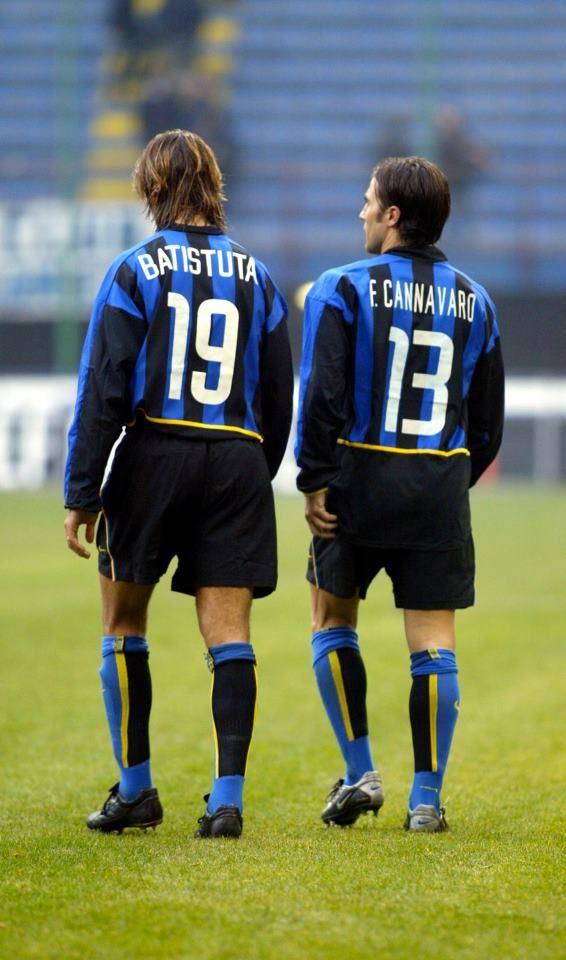 watch 1df4b e9ee9 Gabriel Batistuta & Fabio Cannavaro - Inter Milan   Sporting ...