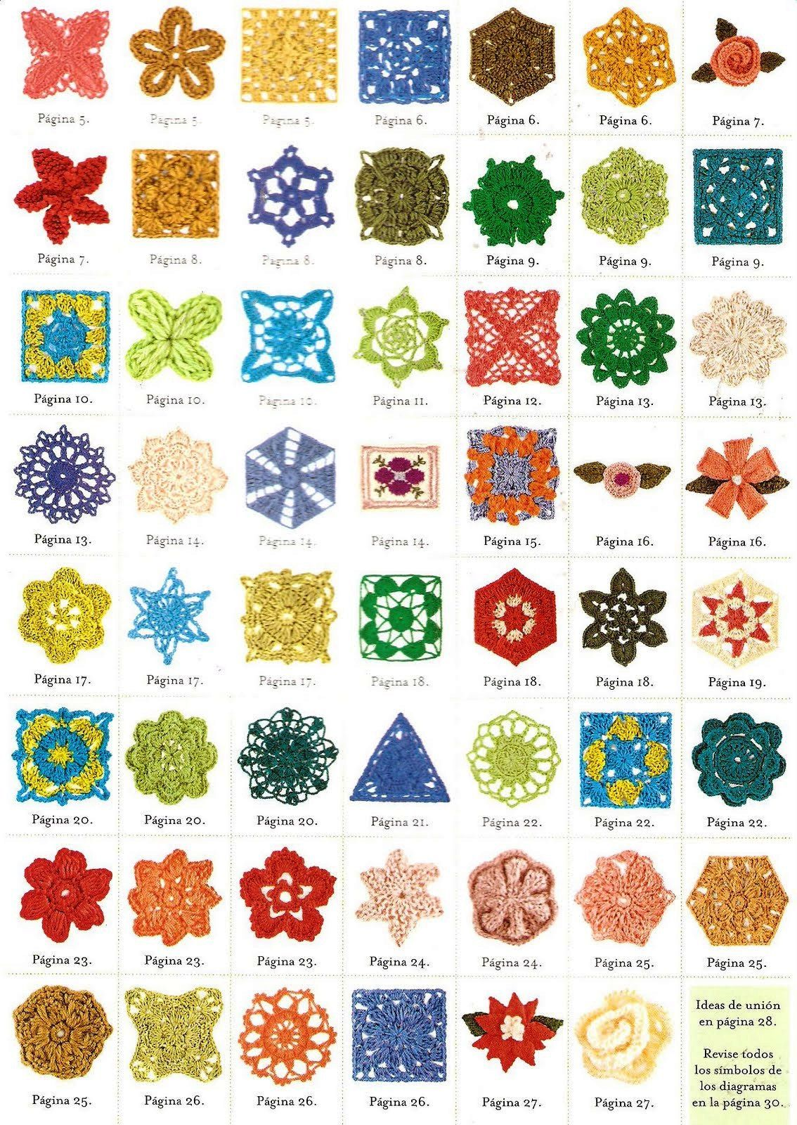 Solo Puntos Crochet Crculos Pentagonal Triangulos Tejido Trippy Hippy Afghan Pattern Kingdom