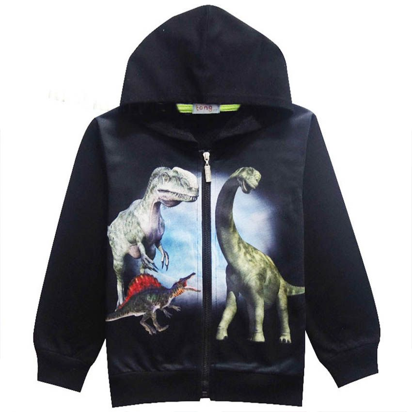Childrens Jacket Autumn Boy Big Dinosaur Print Jacket Baby Fashion Child Clothing