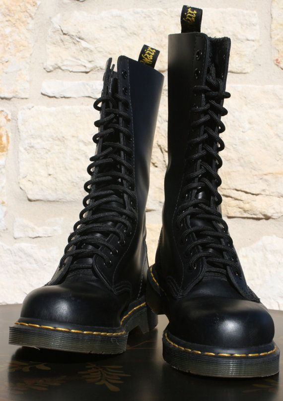 Dr Martens 1914 Womens Black 14 Eye Boots by FunkyLittleGnome, $76.00