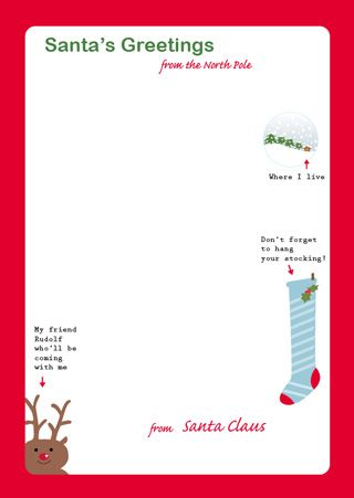 Letter from Santa on Santa stationary Holidays Pinterest - christmas letter template free