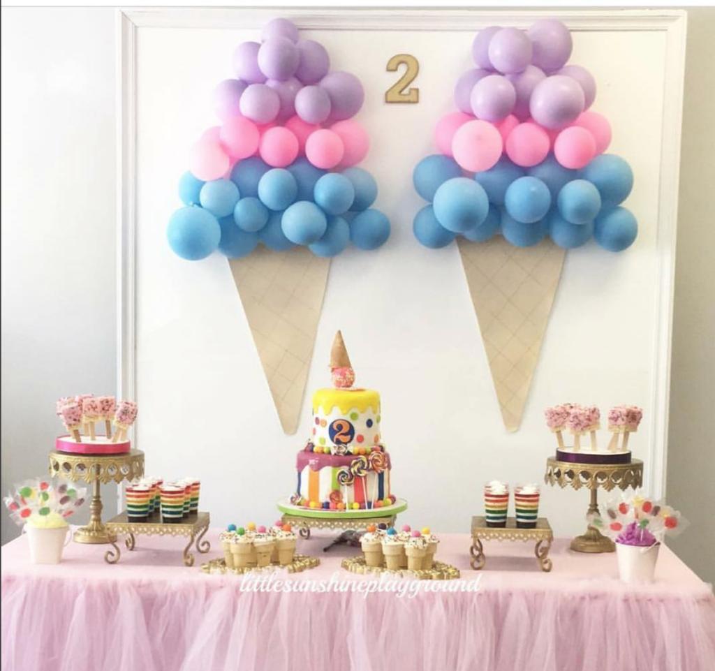 Ice Cream Themed Birthday Party Diy