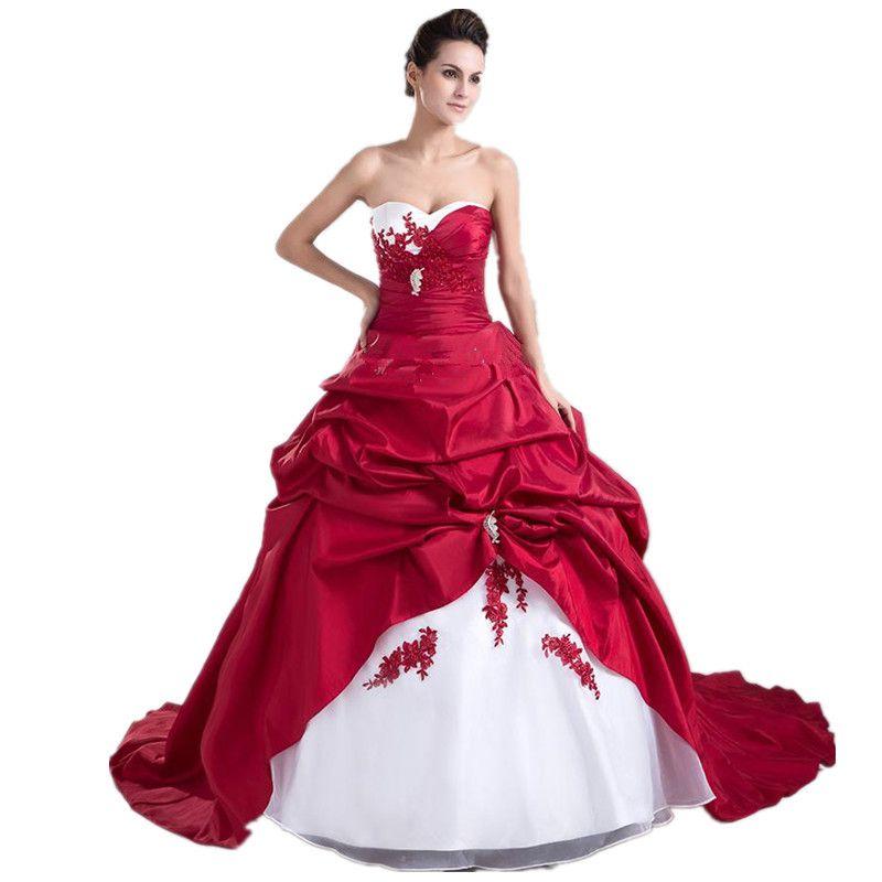 Robe de mariee 2016 rouge et blanche