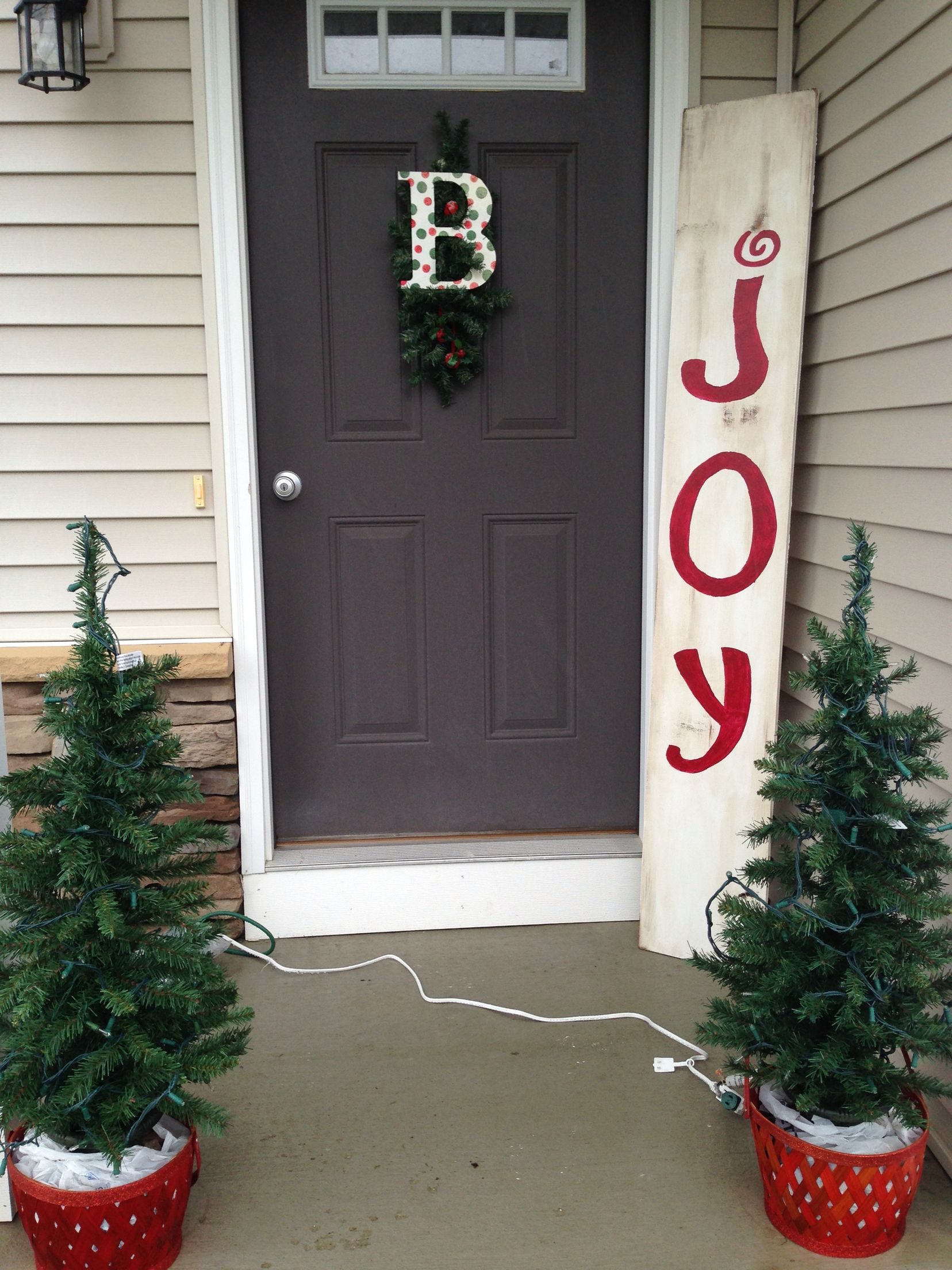 Joy Front Porch Sign 6  Distressed Wood Christmas Sign