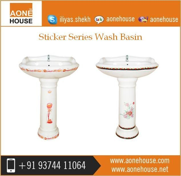 Offering Superior Quality Ceramic Wash Basin With Sticker That Dream Comes True At Http Www Aonehouse Com Sticker Series Wash Basin Basin Margarita Glass