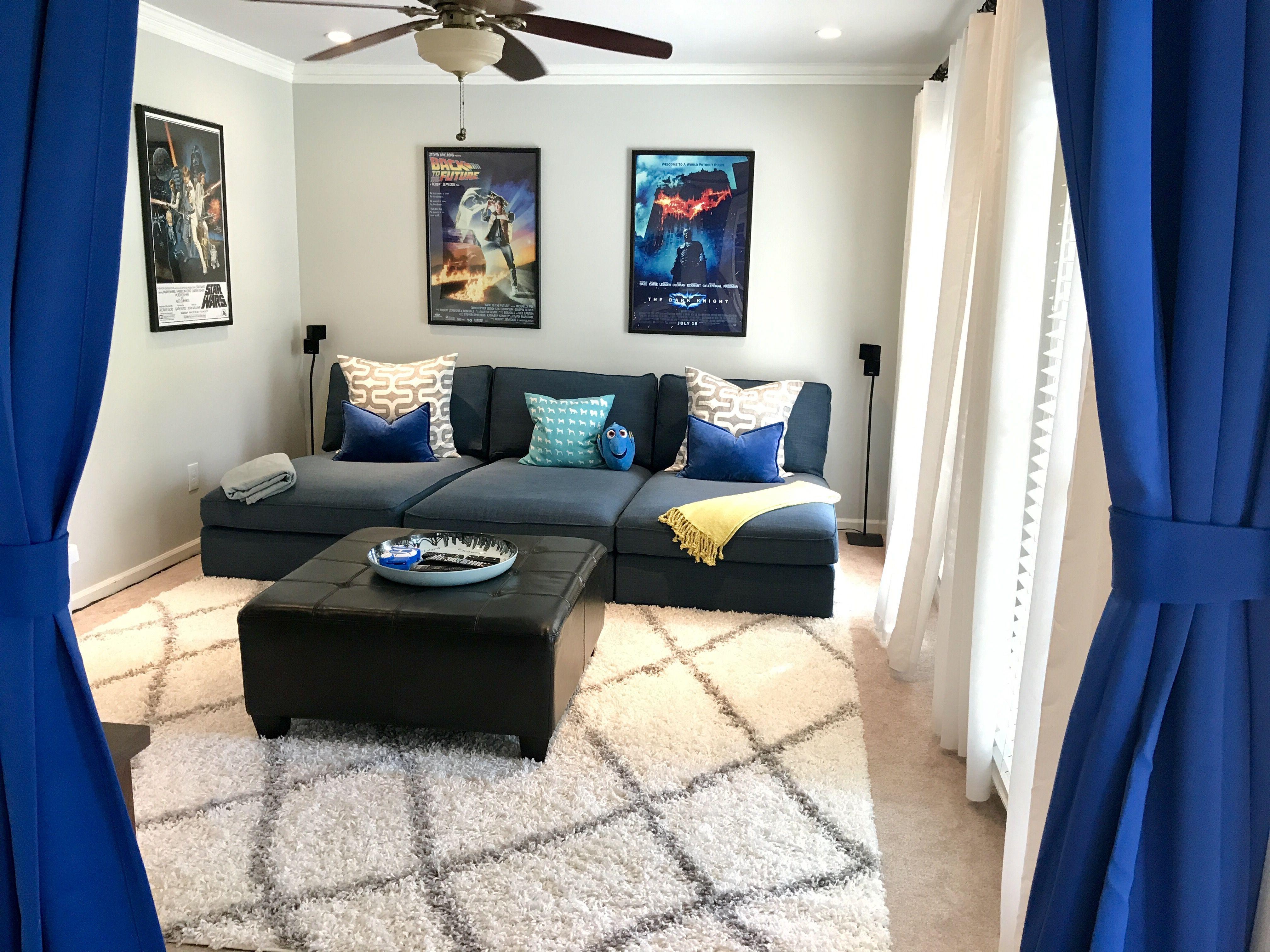 ikea kivik chaise couch hillared dark blue movie room room inspiration pinterest. Black Bedroom Furniture Sets. Home Design Ideas