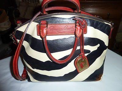 bc9c883b8d Dooney   Bourke Juliette Zebra Print Satchel Handbag
