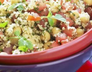 Vegan Couscous Salad with Chickpeas - Vegan Couscous Salad with Chickpeas photo by Philippe Desnerck / Getty Images