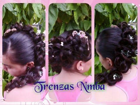 Elegante peinado / perfecto para/ BODAS/ XV AÑOS/ Trenzas Nmba / - YouTube