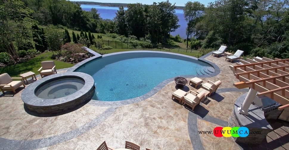 Swimming pool new england hardscapes inc swimming pool deck ideas inground swimming pool deck Diy resurfacing concrete swimming pool deck ideas