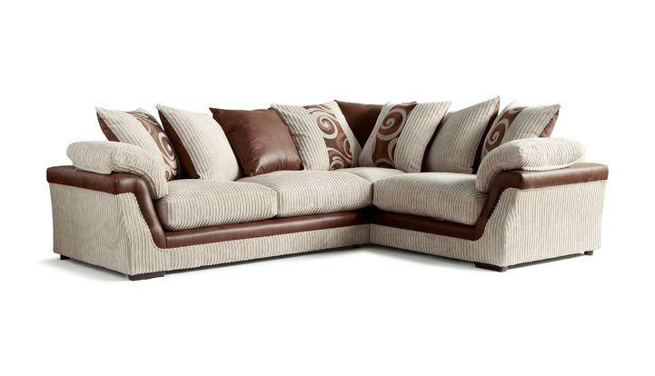 Leather Sofas Zamba Corner Group LHF Scatter Back