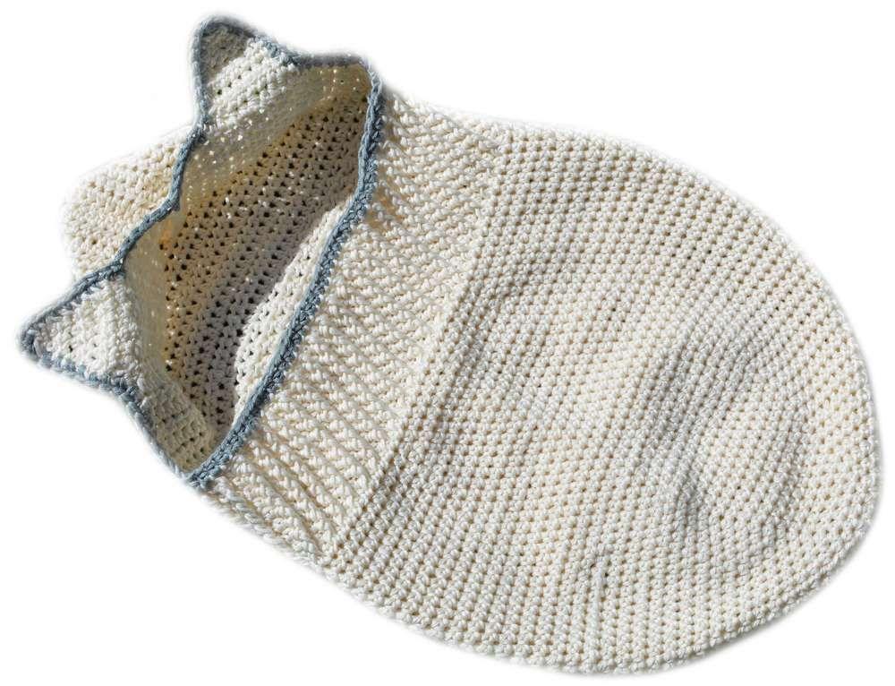 Baby Pucksack mit Öhrchen Häkelanleitung - Woolpedia® | Kinder ...