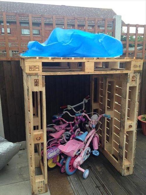 Diy Wooden Pallet Kids Bikes Shed Storage Shed