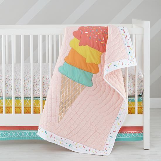 Ice Cream Crib Bedding