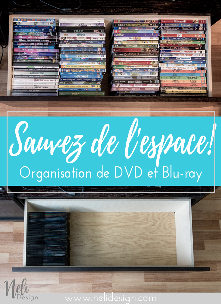 La Meilleure Solution Pour Organiser Les Dvd Et Blu Ray Tout En Sauvant De L Espace Nelidesign Dvd Organization Dvd Storage Dvd