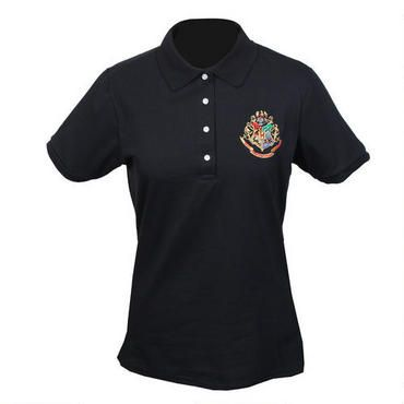 #Hogwarts Crest Women's Relaxed Fit Black #Polo