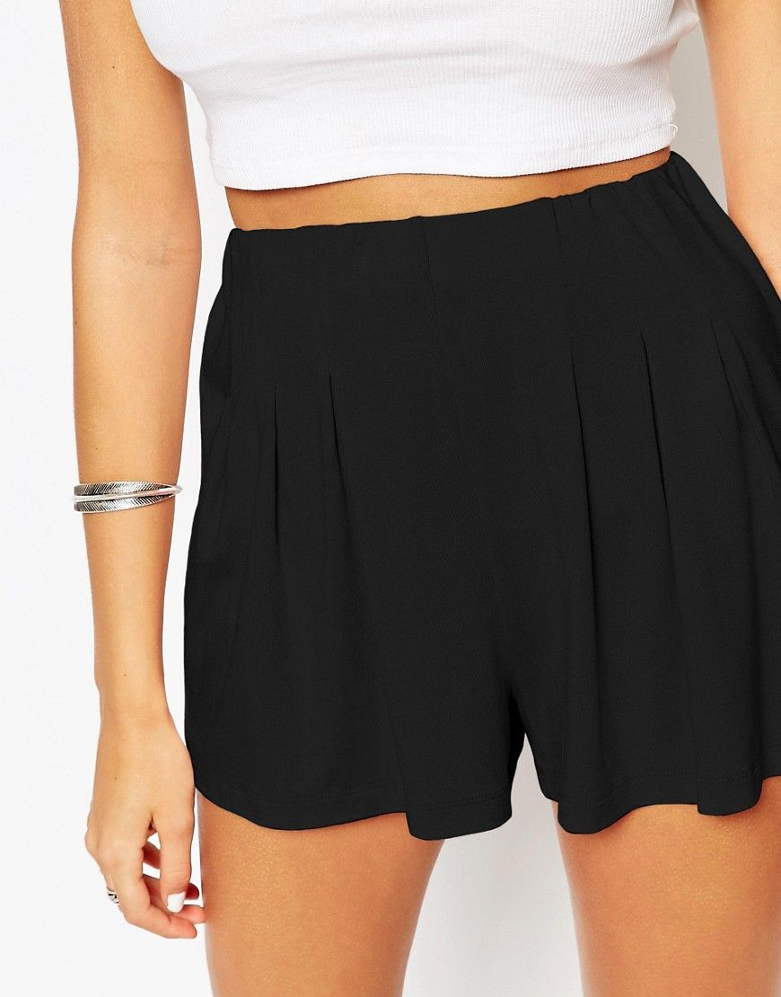 c06f5c56a Image 3 of ASOS Pleated Culotte Shorts Culotte Shorts