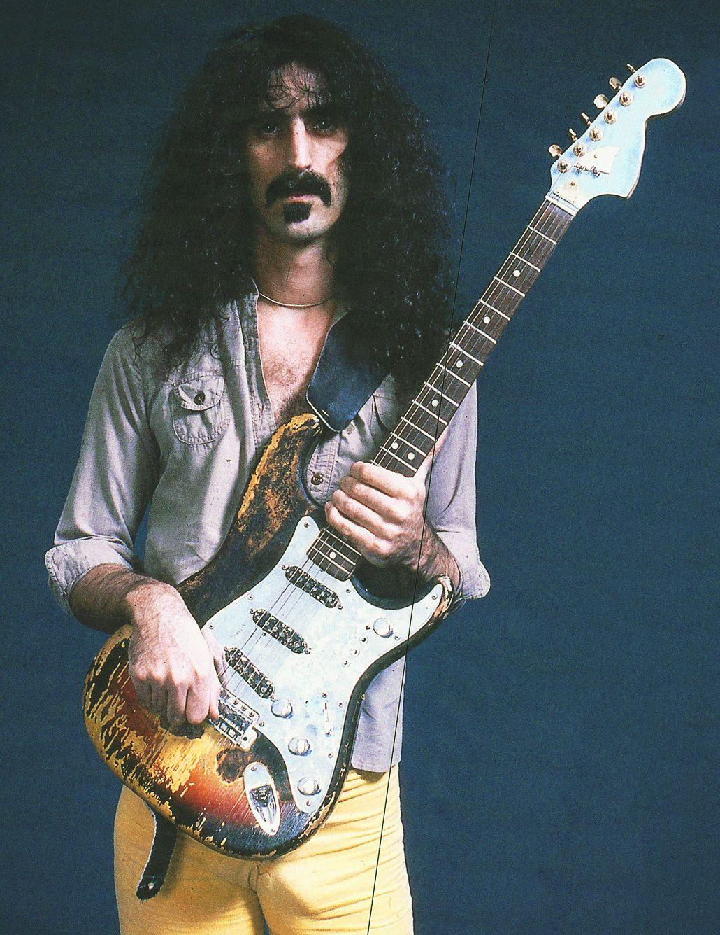 Frank Zappa Holding The Burnt Stratocaster His Friend Jimi