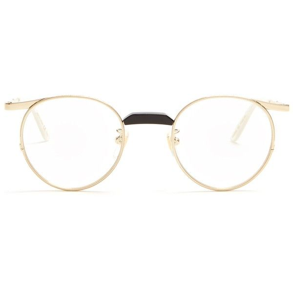 b96ebf82fb GUCCI Round-Frame Gold-Tone Optical Glasses ( 395) ❤ liked on Polyvore  featuring accessories