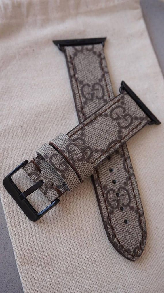 d65191418 Gucci Straps cut from for Apple Watch. APPLE Watch Series :1 - Series :2 -  Series: 3 Compatible 38 mm and 42 mm = LV STRAPS + CONNECTOR + BUCKLE ( SET  ) ...