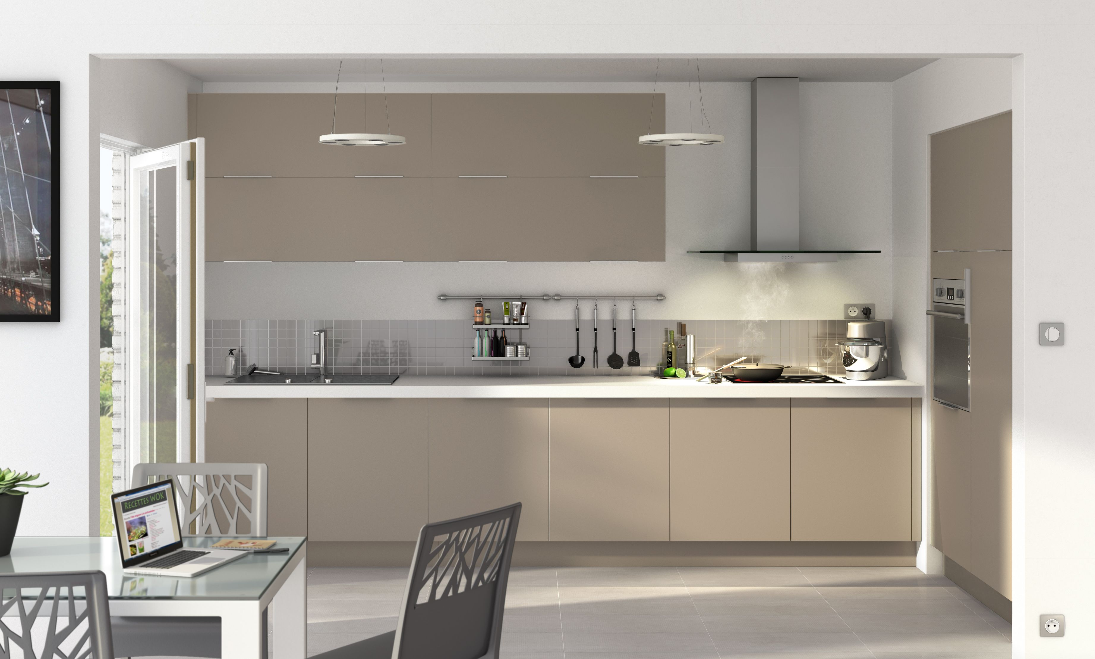 cuisine cooke lewis ice taupe dream home pinterest taupe meuble de cuisine et cuisines. Black Bedroom Furniture Sets. Home Design Ideas