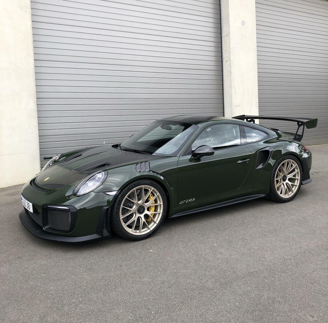 Luxury Cars Porsche Cars Black Porsche: 2018 Dark Green Porsche GT2RS