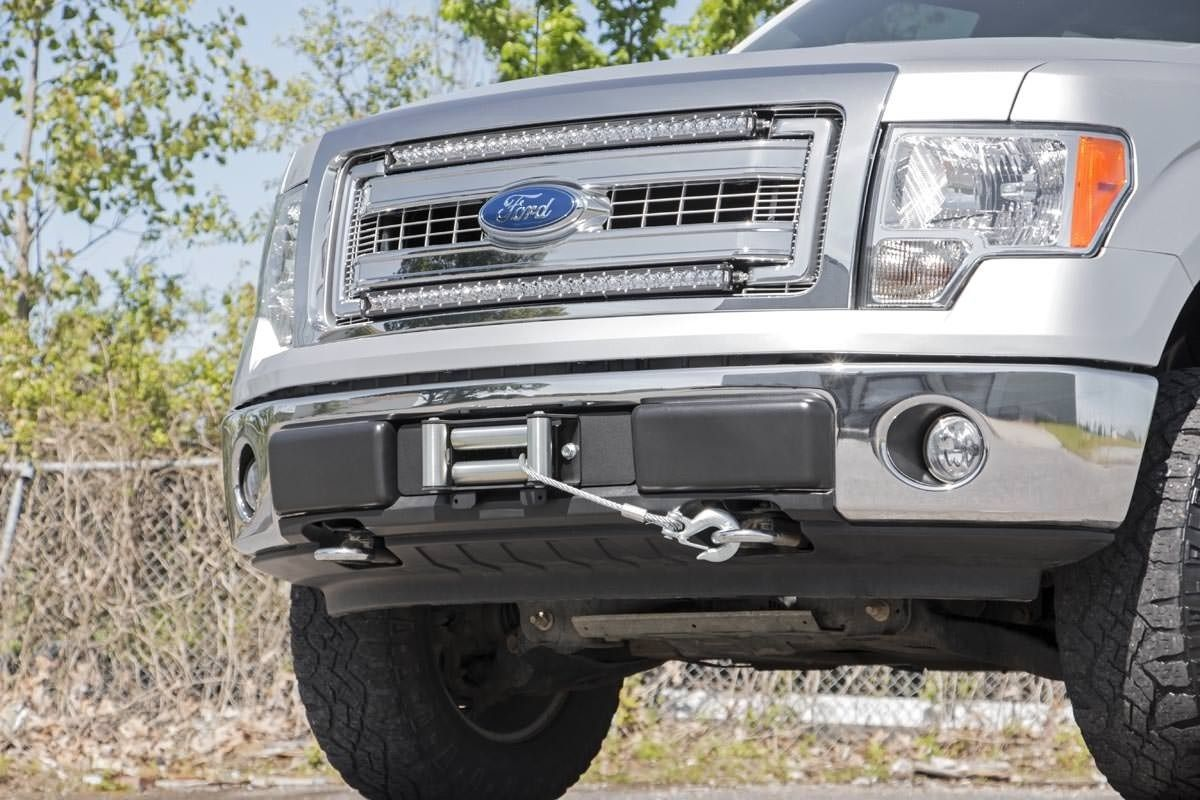 Ford Hidden Winch Mounting Plate 09 14 F 150 Winch Winch