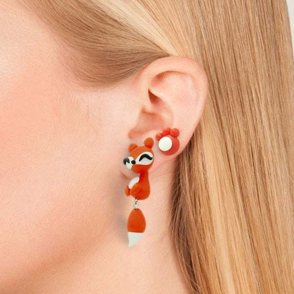 Waggy Red Fox Earrings (3 Pieces)