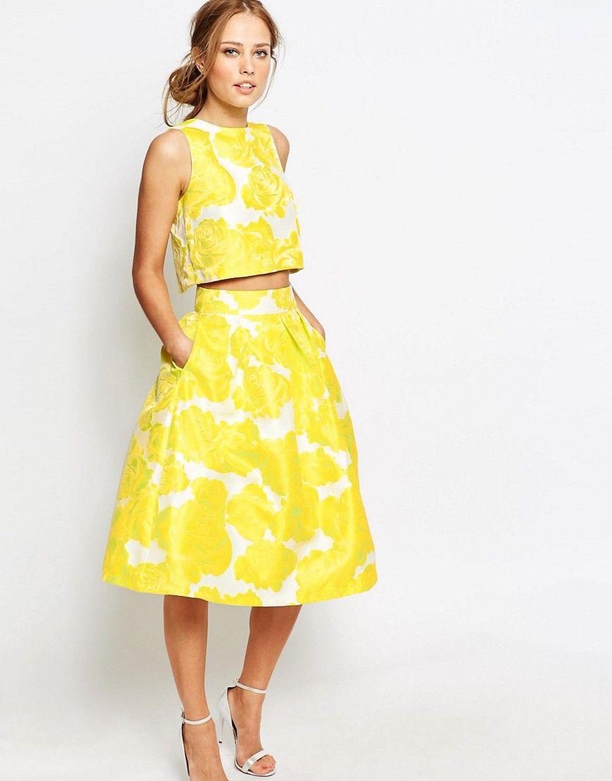 34242b5b3f Chi Chi London Jacquard Full Midi Skirt Co-ord | :: SHOP :: | Skirt ...