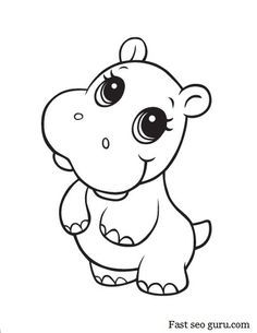 Baby Hippo Max Hipopotamos Dibujo Dibujos Para Colorear Y Dibujos
