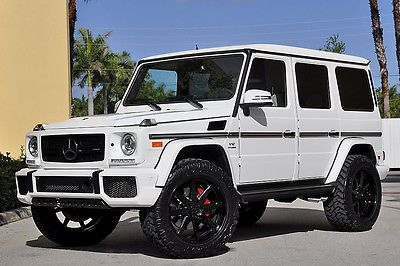 2016 Mercedes Benz G Class G65 Amg Designo Lifted Adv 1 White