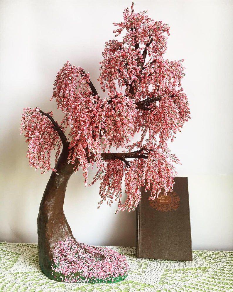 Pin By Noyla On Texnh In 2021 Cherry Blossom Bonsai Tree Wire Tree Sculpture Bonsai Tree