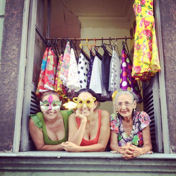 Falditas coloridas en Río de Janeiro