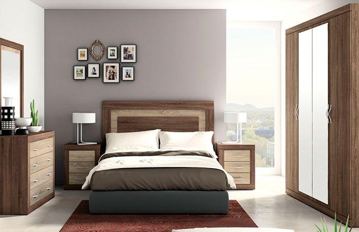 Estupendo dormitorio de matrimonio fabricado con tablero de ...