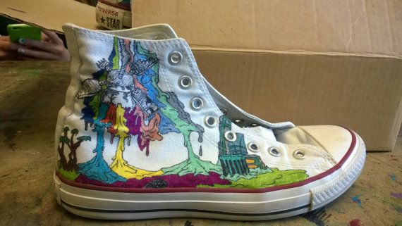 New Puma converse Worn once. Comic book style hight top by