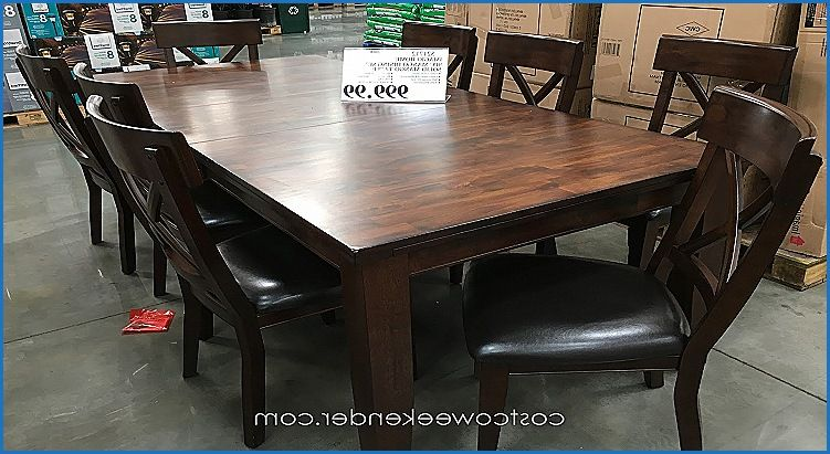 Elegant Mango Wood Dining Table Costco Dining Table Decor