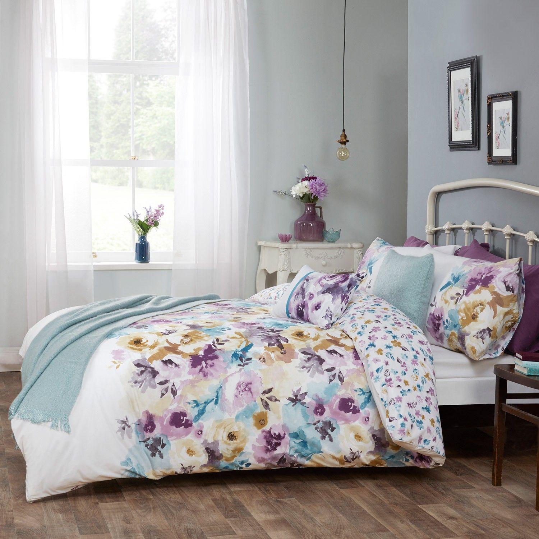 Sara Floral Cotton Rich Reversible Luxury Duvet Set
