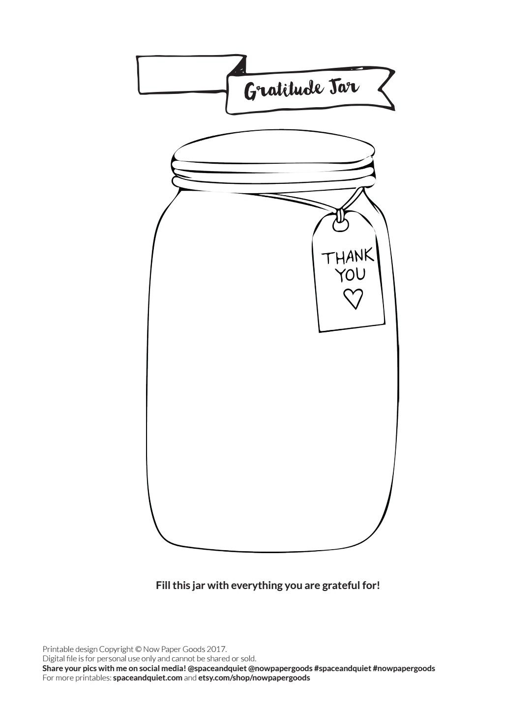 Gratitude Jar Exercise Worksheet Bullet Journal Buju With